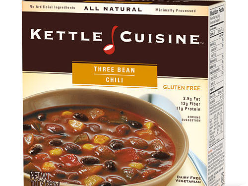 With 10 ultra healthful varieties of Kettle Cuisine soup to choose from — such as organic mushroom and potato, Thai curry chicken, and roasted vegetable — it's hard to decide which of these all-natural, single-serve soups to choose. Our favorite: the Three Bean Chili with just 220 calories, a whopping 13 grams of fiber, and a not-too-terrible 450 milligrams of sodium. Individually packed, they're ready in the microwave in less than four minutes.
