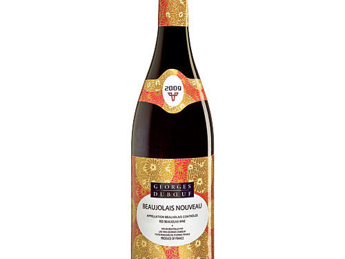 Strong flavors of cabbage, mushrooms, and hoisin sauce can conflict with dry reds; the potent fruit punch of a slightly chilled, low-tannin Beaujolais muscles into the mix well.Georges DuBoeuf Beaujolais Villages Nouveau 2009 (France, $9) Juicy, grapey, berry, and cherry (pictured)