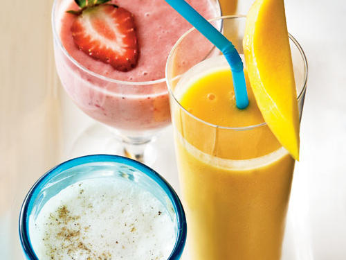 This tropical-tasting smoothie is going to make you feel like you're on an island vacation soaking up the sun--even if you're stuck in rush hour traffic on the interstate. This recipe calls for frozen fruit, making it a cinch to prepare in the morning.