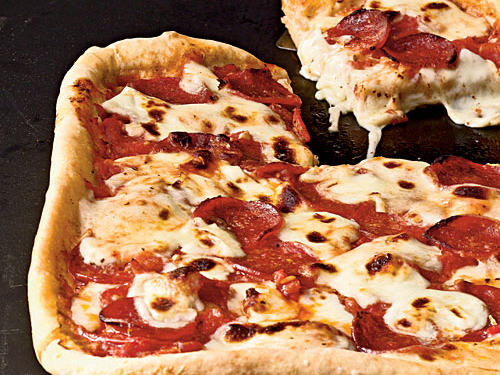 Pepperoni Deep-Dish Pizza Comfort Food Recipe