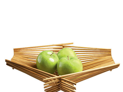 Made with recycled, sterilized chopsticks, these baskets fold flat when not in use. Available in four sizes; large shown.Price: $18-$34Shop:Kwytza Chopstick Art