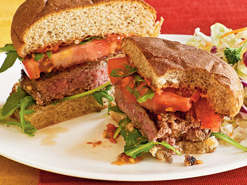 Healthy Dinner Recipes: Lamb Burgers with Sun-Dried Tomato Aioli