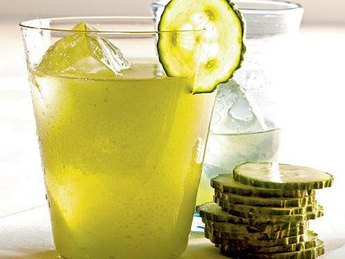 "Serve this refreshing cooler on a hot day–it's perfect with spicy Mexican food. Because we only include a tiny amount of seeded serrano pepper, the beverage doesn't become very spicy but picks up the ""green"" vegetal flavors of the pepper. Use the remaining serrano pepper in your favorite salsa recipe, or toss it into a lime-based salad dressing with cilantro."