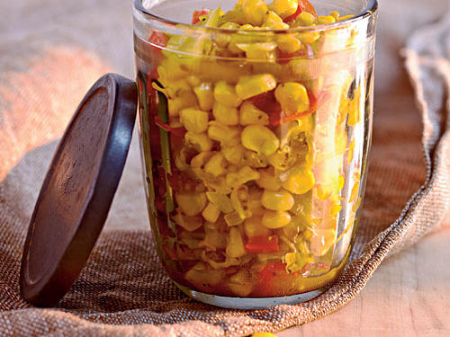With our simple refrigerator relish recipe, you can preserve a bumper crop of corn for up to six weeks. Serve with any grilled meat or fish, or spoon over salad greens.