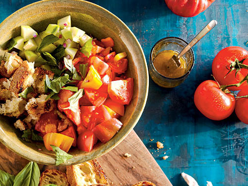 Grilled Tomato, Onion, and Olive Salad Recipe - Cooking Light