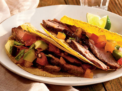 Healthy Grilled Flank Steak with Avocado and Two-Tomato Salsa Recipes