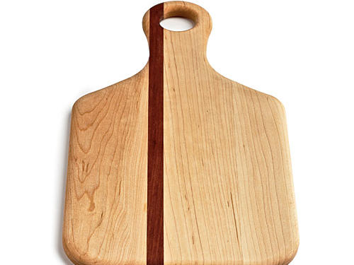 Cheese, with attitude! A Mahogany stripe gives this maple board a jaunty look.Price: $40Shop:Soundview Millworks