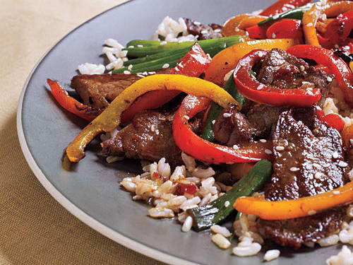 Serve this protein-packed stir-fry with boil-in-bag brown or jasmine rice.