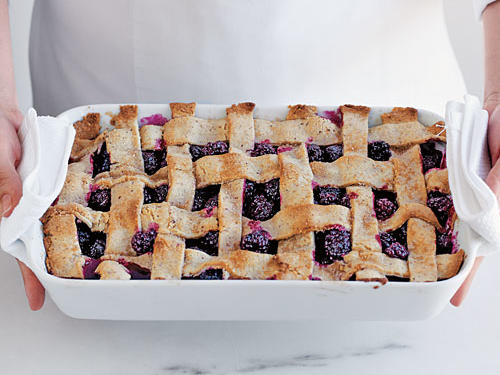 Finished Blackberry Cobbler
