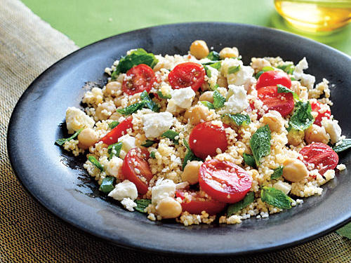 This colorful and delicious main course is vegetarian and accentuates many Mediterranean flavors. Try this dish for you next meatless Monday venture.