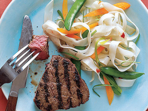 Healthy Dinner Recipes: Grilled Miso-Marinated Filet Mignon
