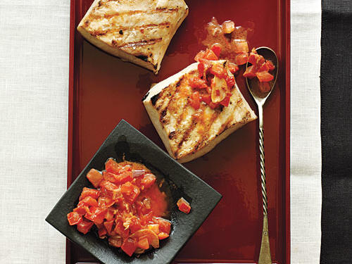 Mahimahi is simple and easy to prepare, as is the bacon-tomato butter. It's rich and sweet, and the dish is great served with a salad, pasta, or fresh vegetables.