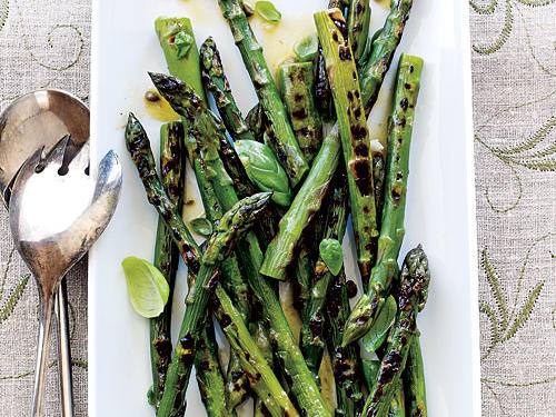 Grilled Asparagus with Caper Vinaigrette is a perfect light side dish. Briny capers are a lovely addition to Dijon vinaigrette—especially when drizzled on grilled asparagus.