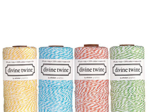 Tie it up real pretty with Divine Twine. What all the best-dressed chickens will be wearing this season.Price: $15/240-yard spoolShop: Divine Twine