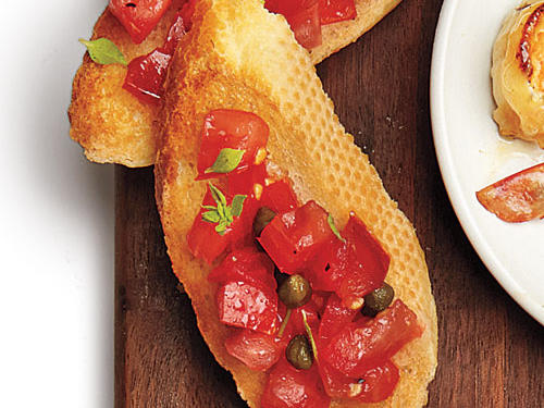 Healthy Choice: Tomato-Topped Bruschetta