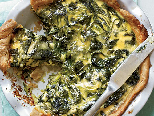Breakfast for Dinner: Spinach, Green Onion, and Smoked Gouda Quiche Recipe