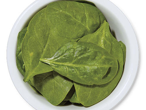 Bagged baby spinach saves you the time and trouble of removing the stems.Use for: pizza topping, pasta dishes, wilted for a green side dish or salad