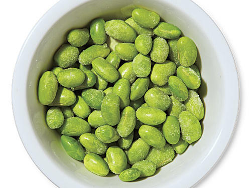 Frozen shelled edamame (soybeans) are a superconvenient way to add color, texture, and protein to most any dish.Use for: salads, (pureed) dip or spread, whole-grain salads