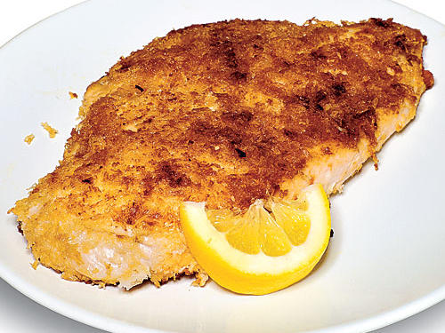 The tang of soy and spice of chile combine to yield a tasty, quick Pan-Fried Chicken Breasts. The creamy mayo helps panko crumbs cling to the chicken while you pan-fry it to a crispy finish.