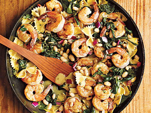 100 Pasta Recipes: Warm Pasta Salad with Shrimp