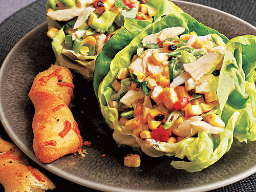 Healthy Dinner Recipes: Crab and Grilled Corn Salad