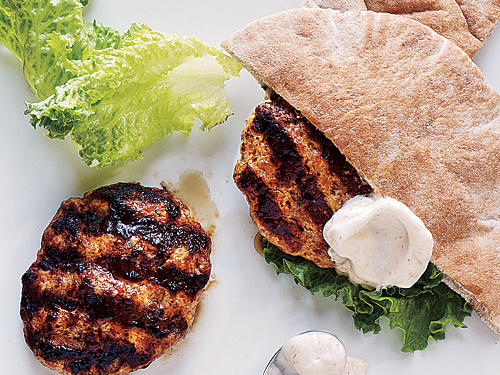 Healthy Dinner Recipes: Lamb and Turkey Pita Burgers