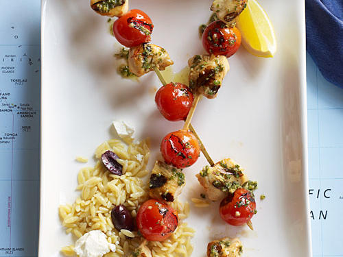 For a dish that's straight from the Mediterranean, serve with orzo tossed with crumbled feta cheese and pitted kalamata olives.
