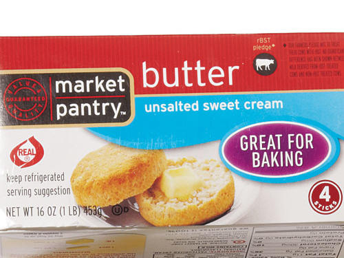 Superior creamy texture at a great price—about $2 a pound. This is the butter to stock up on.Shop: Market Pantry Unsalted Butter