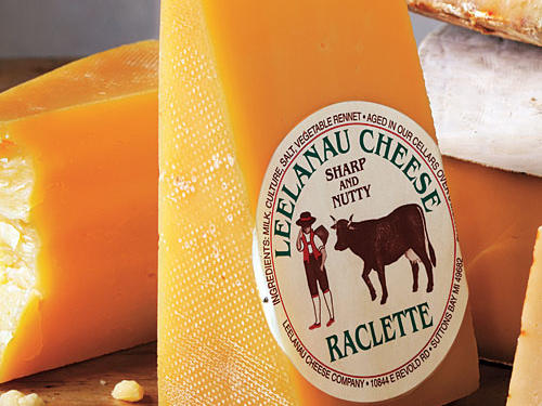 """Leelanau Cheese Company Raclette ($12.50/lb.) Ideal for melting in a sandwich or fondue, this mildly nutty Swiss-style cheese from Michigan's """"agricultural destination"""" farm, inn, and winery has just the right level of fresh-from-the-farm cheesy funk."""