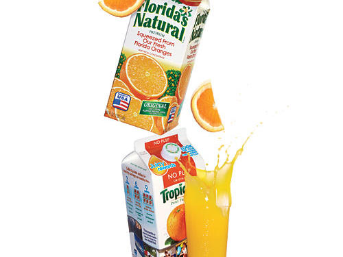 Orange Juice Cartons: Florida Natural and Tropicana