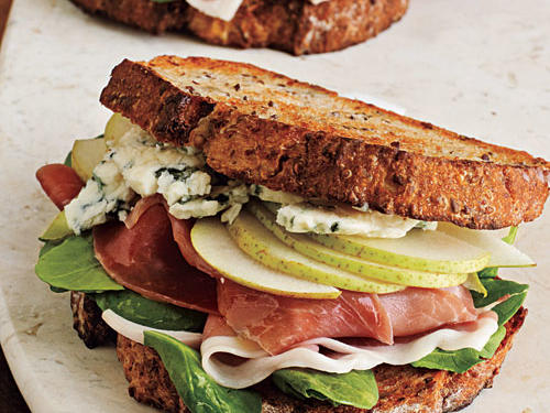 A savory blend of salty and sweet flavors make the perfect pair between two slices of multigrain bread. Toast the bread in a pinch by arranging it on a baking sheet and broiling for three minutes.