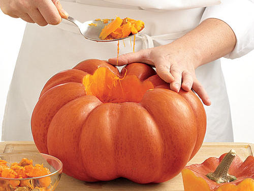 Pumpkin Cooking Preparation Cleaning Seeds