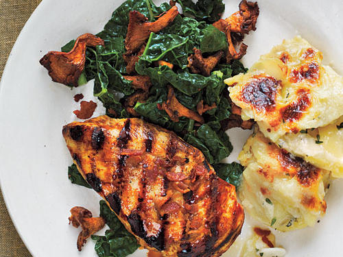 Washington Recipe: Chicken with Smoked Chanterelles and Potatoes