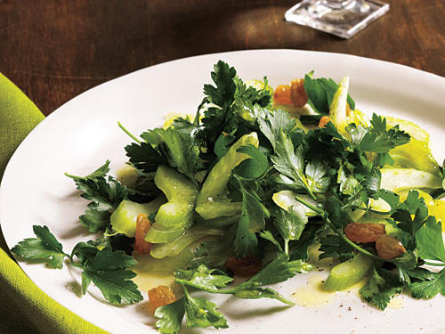 Celery and Parsley Salad with Golden Raisins