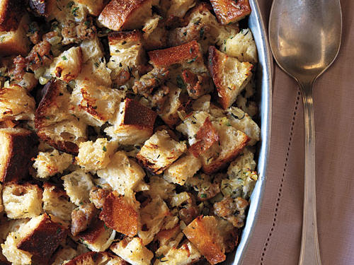 Sausage and Sourdough Bread Stuffing Recipes