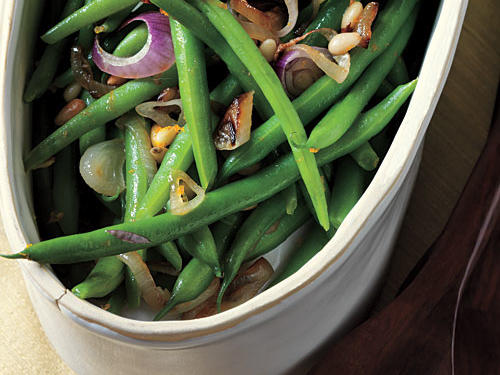Citrus Green Beans with Pine Nuts Recipes