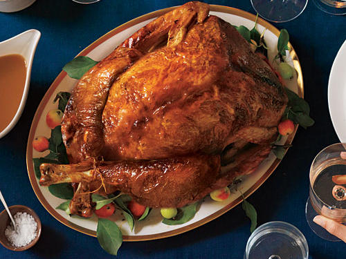 Our Apple-Poblano Whole Roast Turkey provides a fresh, new take on the holiday bird. We suggest pairing this updated roast turkey with Sausage and Sourdough Bread Stuffing and Citrus Green Beans with Pine Nuts.