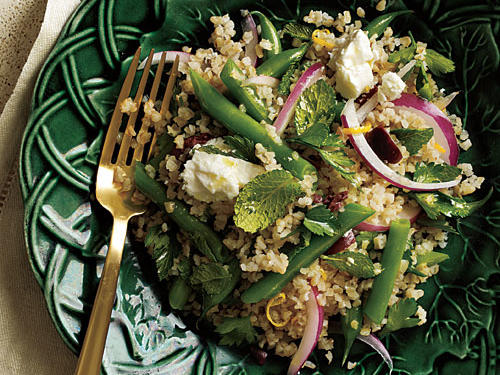 Green Bean, Feta, and Black Olive Salad