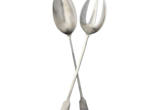 Match Pewter Antique Serving Utensils