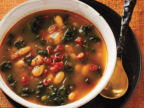 White Bean Soup with Kale and Chorizo Recipes
