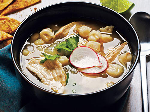 Give chicken soup a Mexican flair by adding hominy, jalapeño, and cilantro. If you can't find hominy, simply substitute 1 cup frozen thawed corn in its place.