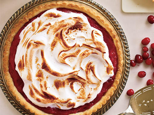 1206 Meringue-Topped Cranberry Curd Tart