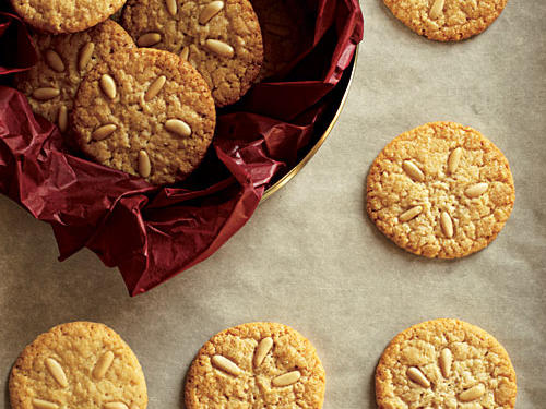 Almond paste is an ingenious way to flavor, tenderize, and sweeten our Pine Nut Cookies because it won't cause spreading like excess sugar or warm butter will.