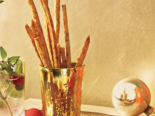 Blue Cheese and Chive Straws