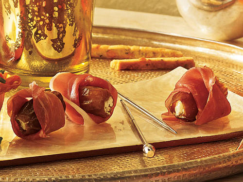 Under 100 Calorie Appetizer: Prosciutto-Wrapped Stuffed Dates