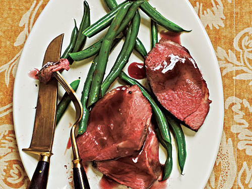 Roast Lamb with Pomegranate Sauce