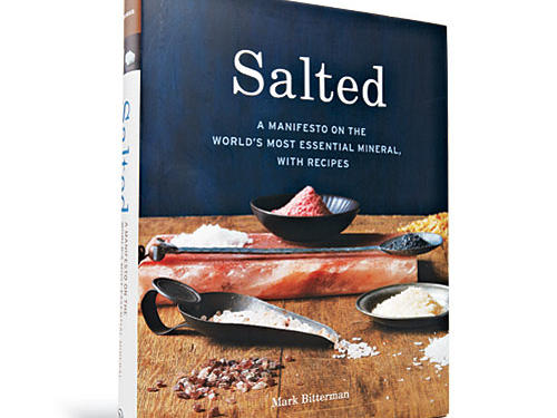 "As the FDA considers lower salt standards for Americans, salt has never been a hotter chef's ingredient. This is part cookbook (Roasted Peaches in Bourbon Syrup with Smoked Salt), part salt tract (positing ""Five Rules of Strategic Salting),"" part reference tome.Price: $35Shop: Ten Speed Press"