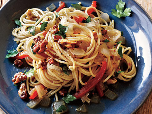 100 Pasta Recipes: Pasta with Anchovy-Walnut Sauce