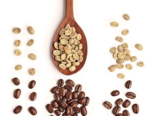 Raw Versus Roasted Coffee Beans