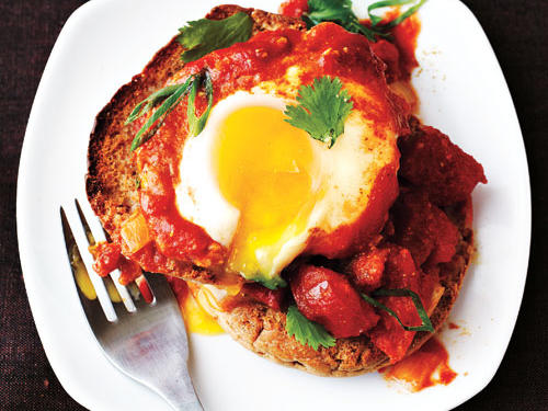 Eggs Poached in Curried Tomato Sauce Comfort Food Recipe